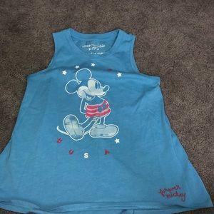 Light blue Mickey tank top from Abercrombie kids